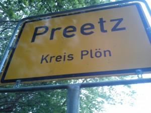 Ortsschild Preetz